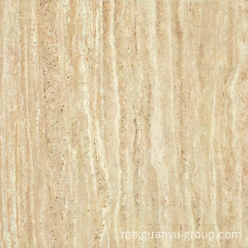 Kuning Travertine lihat porselin Desa jubin